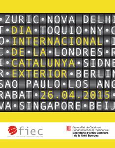 Cartell Dia Internacional de la Catalunya Exterior 2015